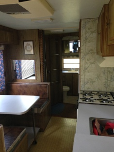 kitchen to the back