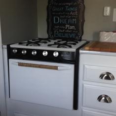 repainted stove