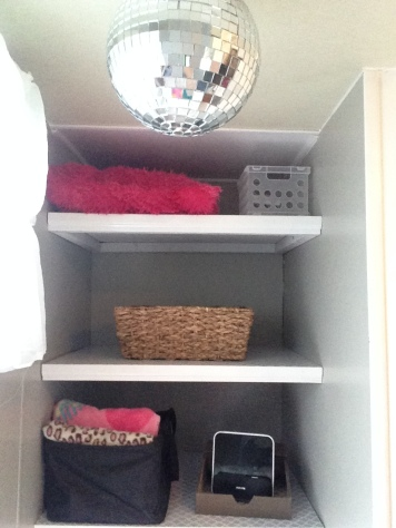 New Shelves in Bunk Area